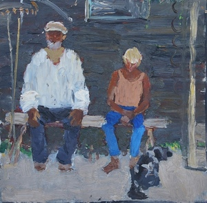SOLD Grandfather and grandson
