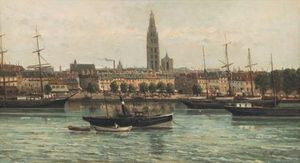 View on Antwerp