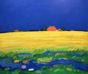 SOLD Landscape with rapeseed