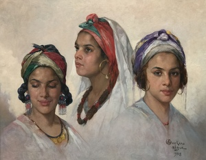 Portraits of three Algerian women